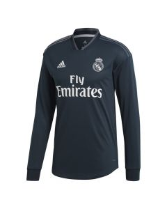 Real Madrid Adidas Long Sleeve Away Shirt 2018/19 (Kids)