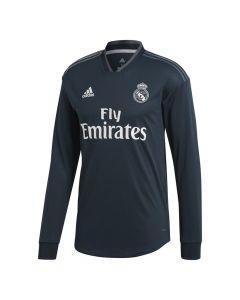 Real Madrid Adidas Long Sleeve Away Shirt 2018/19 (Kids)