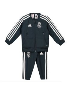 Real Madrid Adidas Dark Grey Presentation Suit 2018/19 (Infants)