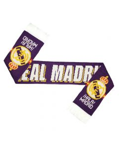 Real Madrid Jacquard Football Scarf (Purple)
