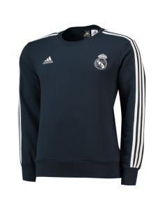 Real Madrid Adidas Dark Grey Sweat Top 2018/19 (Kids)