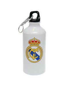 Real Madrid Aluminium Drinks Bottle (White)