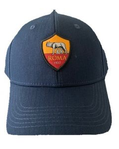 This is the front view of the new navy baseball cap for Roma FC.