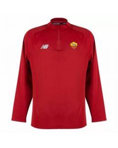 AS Roma 21/22 red quarter zip training top
