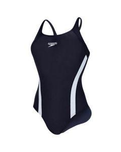 Speedo Fluidfuse Swimming Costume (Navy)