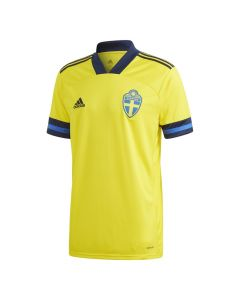 Sweden Kids Home Football Shirt Front View
