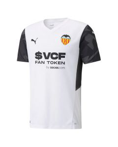 Front view of the Valencia 21-22 home jersey.