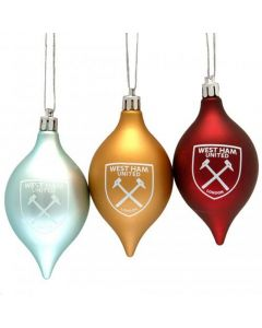 West Ham United Christmas Tree Baubles