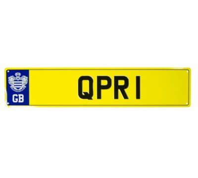 Queens Park Rangers Number Plate Sign