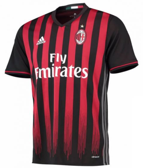 AC Milan Kids Home Football Shirt 2016-17