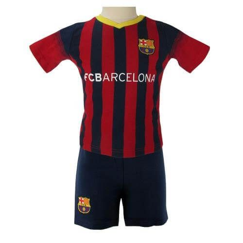 Barcelona Shirt and Shorts Football Set