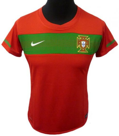 Portugal Womens Home Soccer Shirt 2010-12