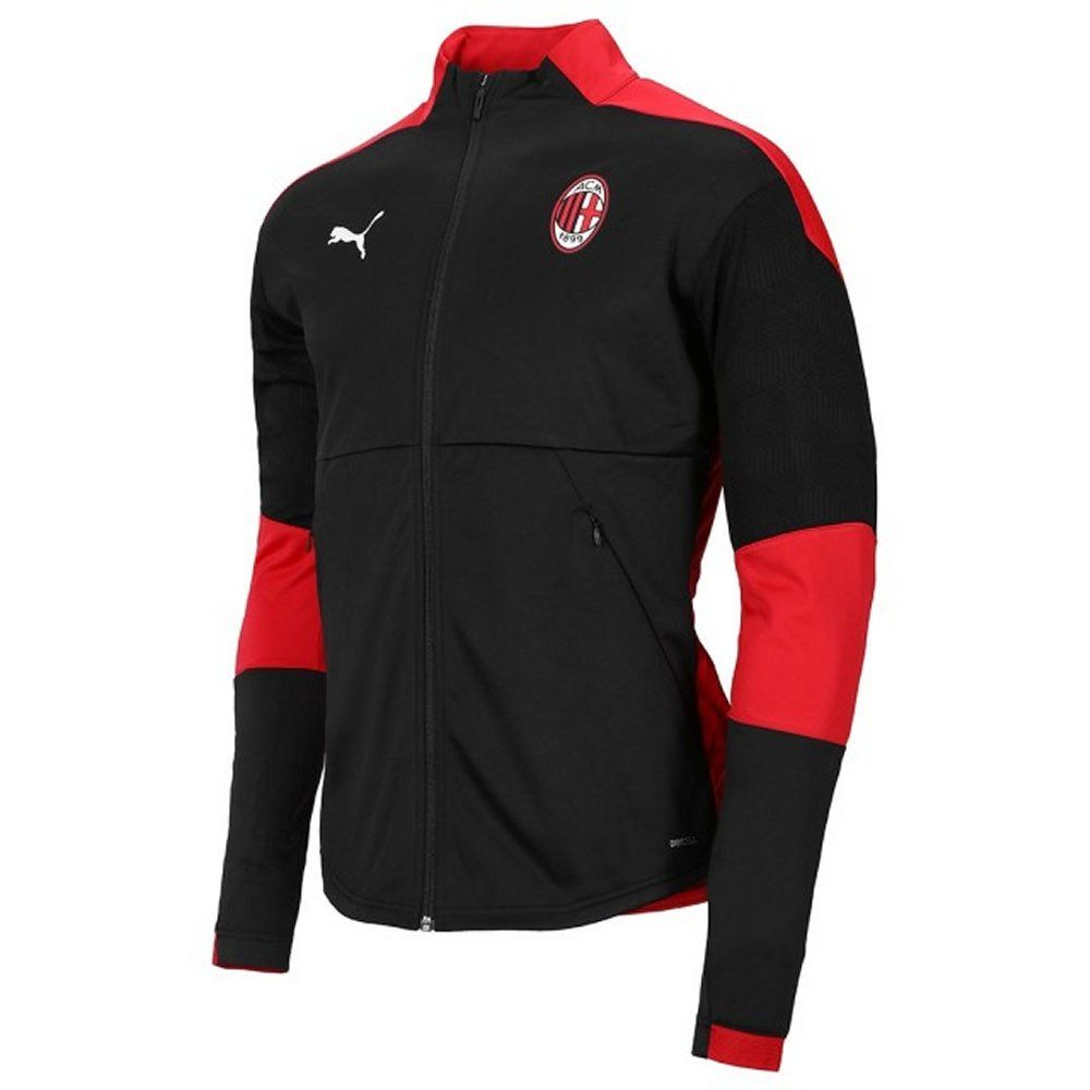 Ac Milan Black Stadium Jacket 2020 21 Official Puma Ac Milan Pre Match Jacket