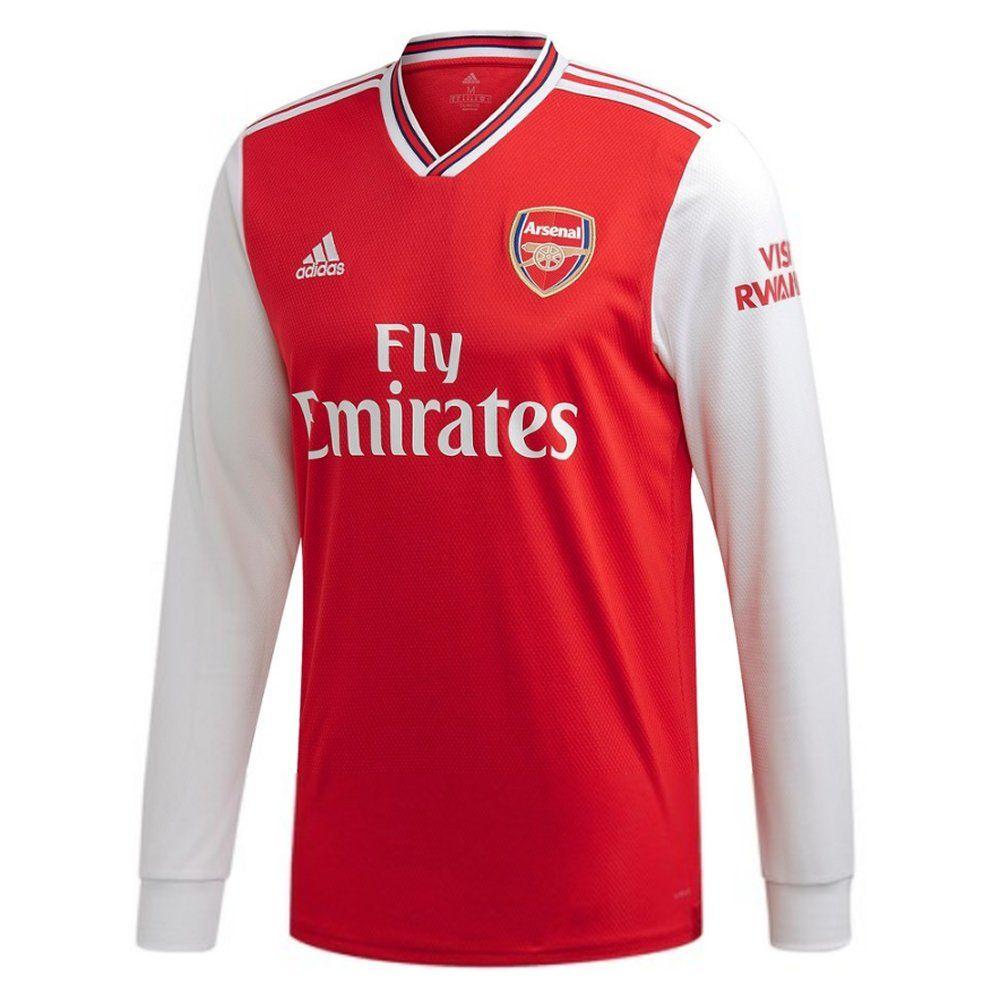 Arsenal Long Sleeve Home Shirt 2019 20 Official Adidas Kit