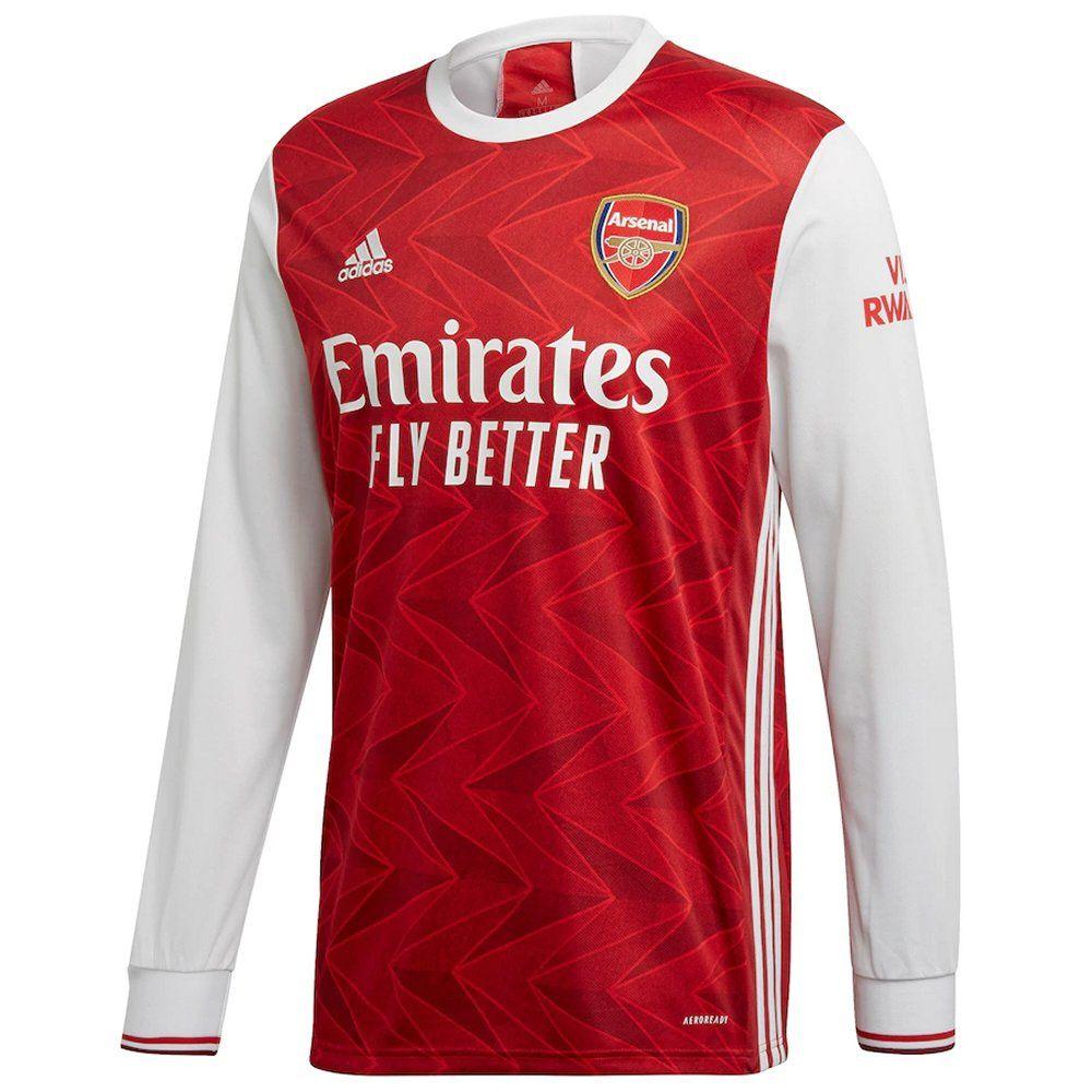 Arsenal Long Sleeve Home Shirt 2020 21 Genuine Adidas