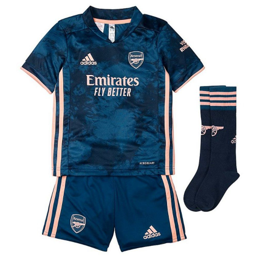 Arsenal Kids Third Kit 2020 21 Genuine Adidas Gear