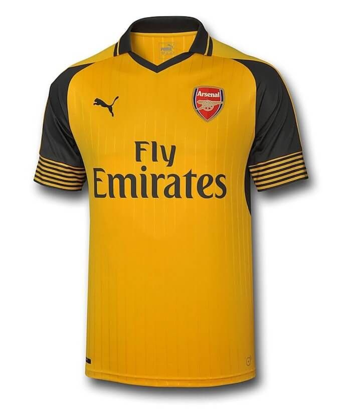Arsenal Away Kids Football Kit
