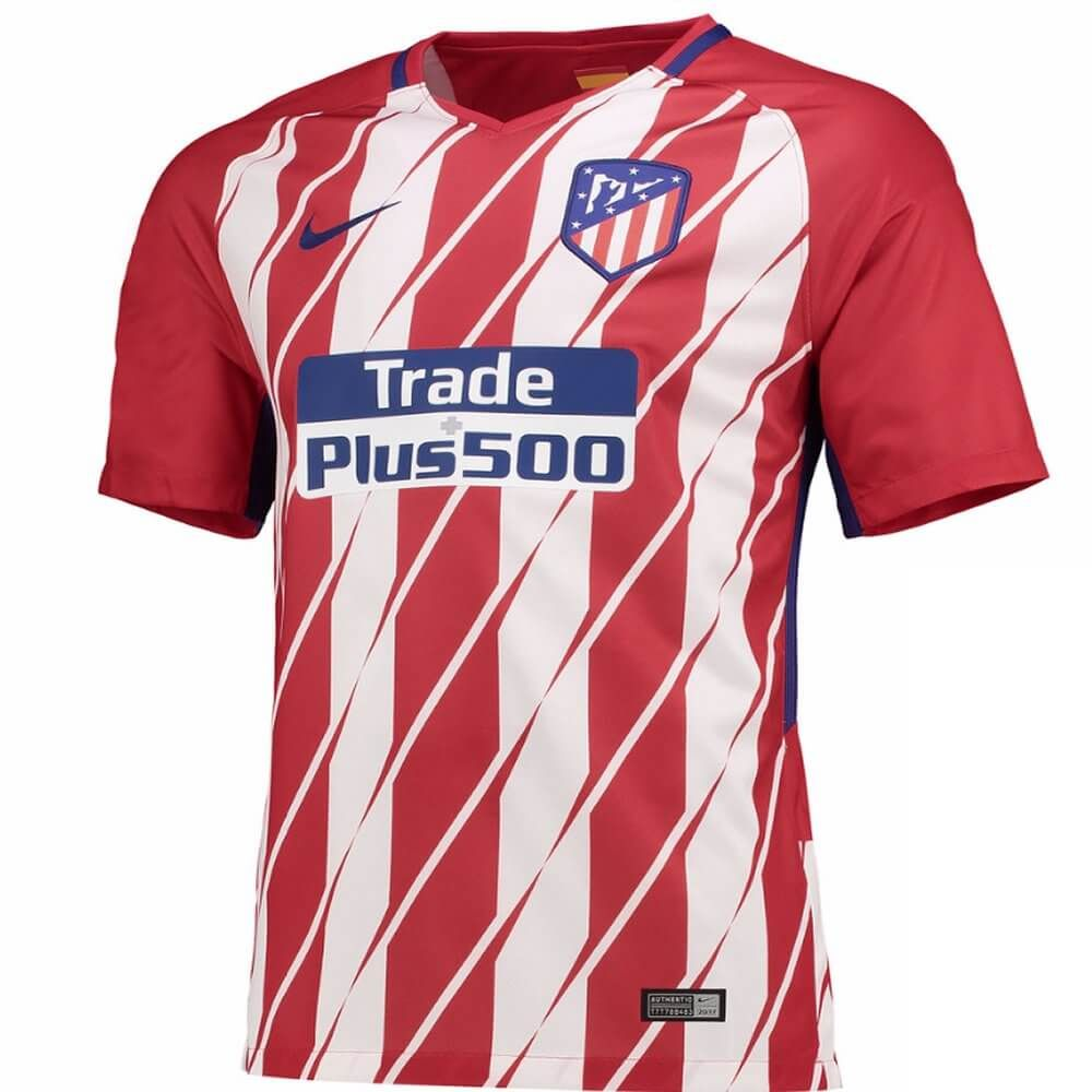 Atletico Madrid Home Shirt 2017 18 Produced By Nike