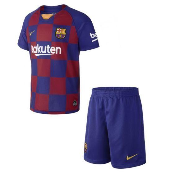 Barcelona Home Kids Football Kit