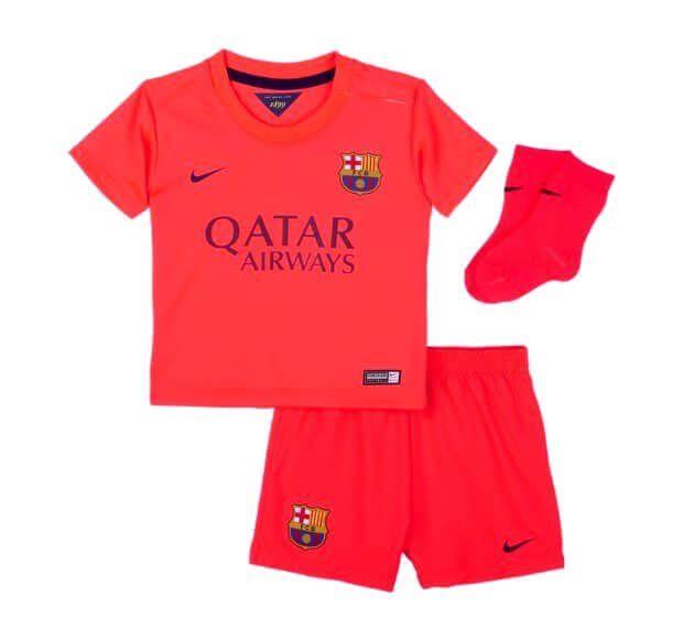 Barcelona Baby Infant Away Kit 2014 2015 Soccer Box