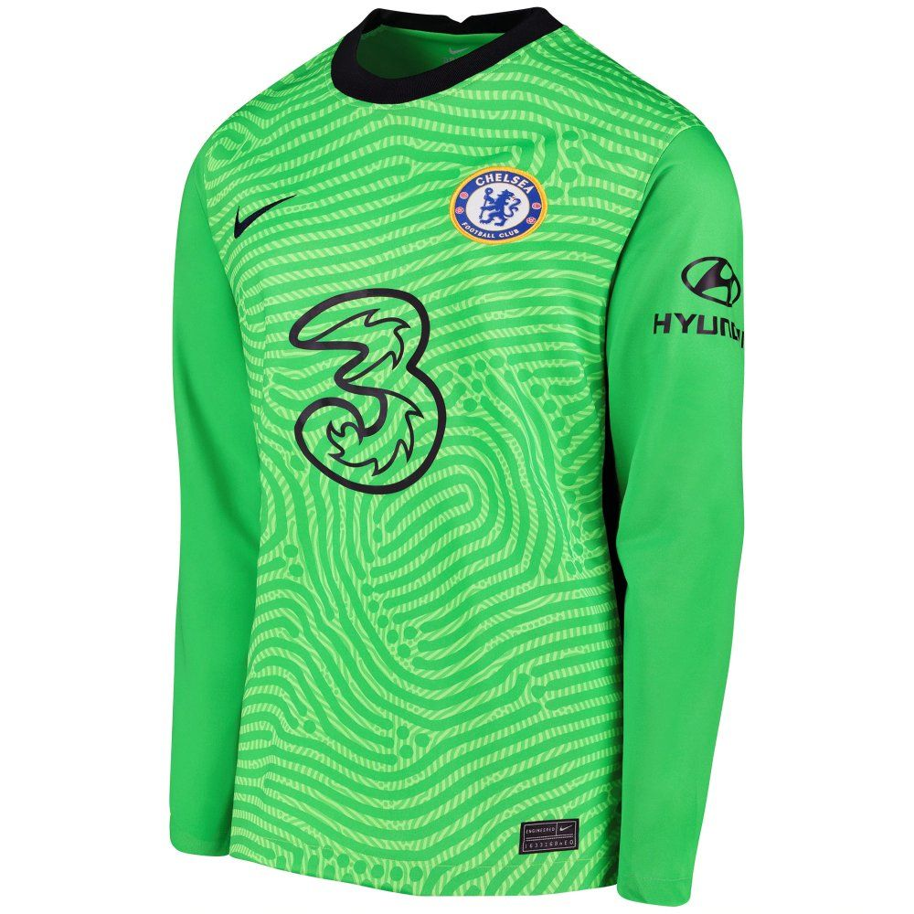 Chelsea Kids Green Goalkeeper Shirt 2020 21 Genuine Nike