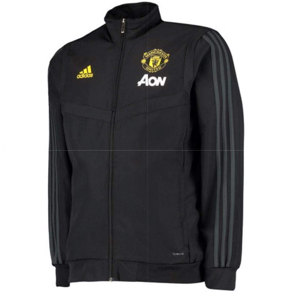 Manchester United Black Presentation Jacket 2019 20 Official Adidas