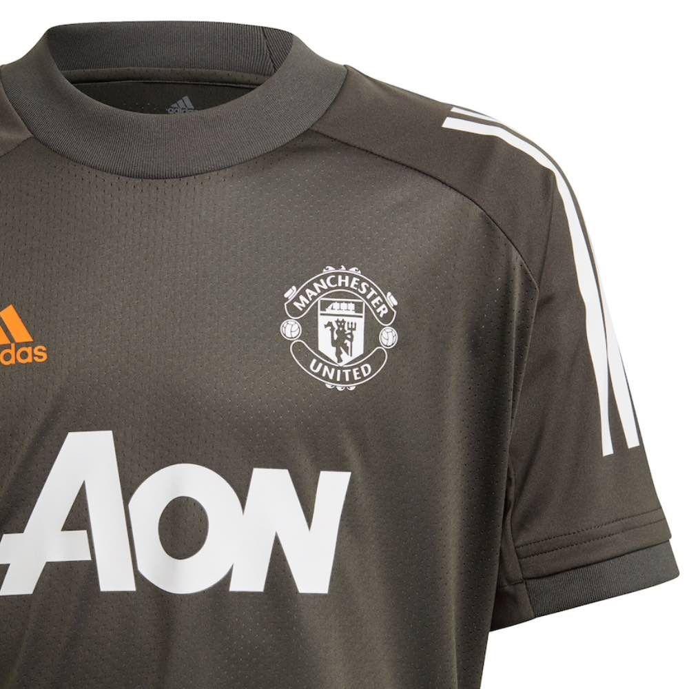 Manchester United Green Training Polo Shirt 2020//21-M
