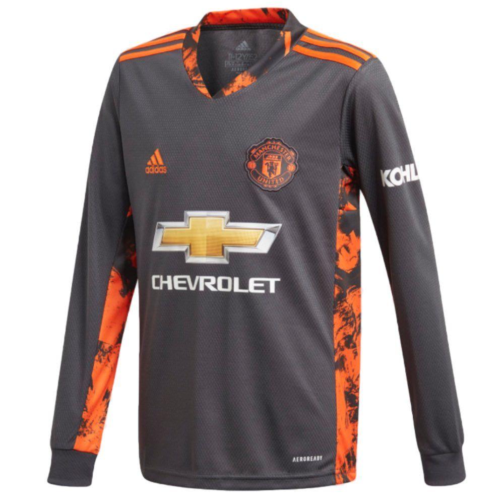 Official Adidas Manchester United Kids Home Goalkeeper Shirt 2020 21