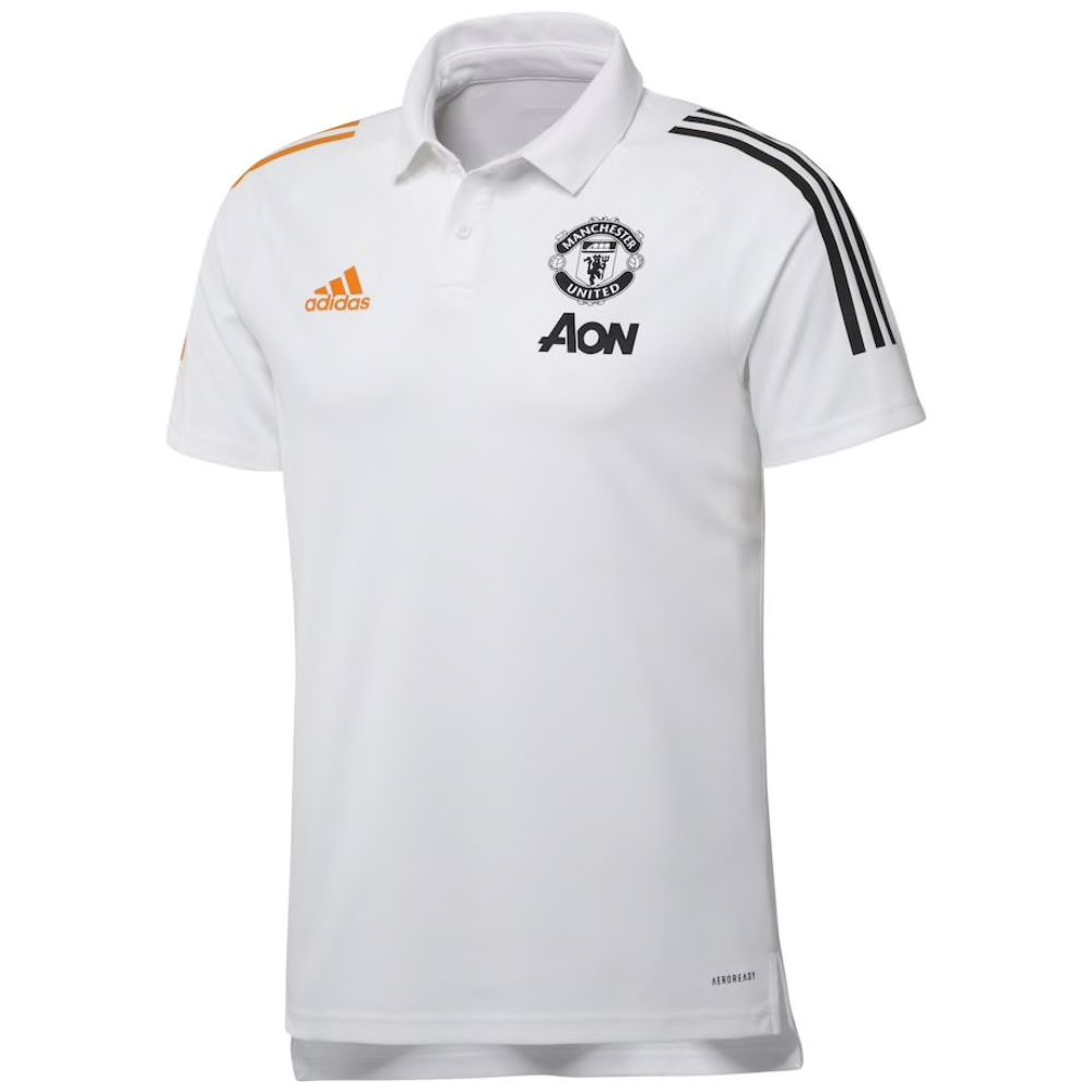 Manchester United White Training Polo Shirt 2020 21 Hurry Limited Stock