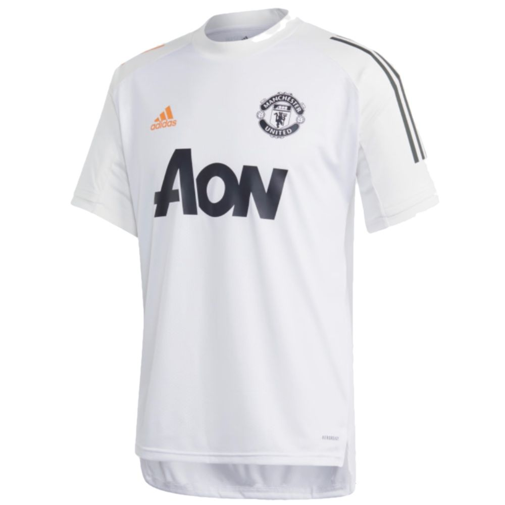 Shop The Official Adidas Manchester United White Training Jersey 2020 21 Here