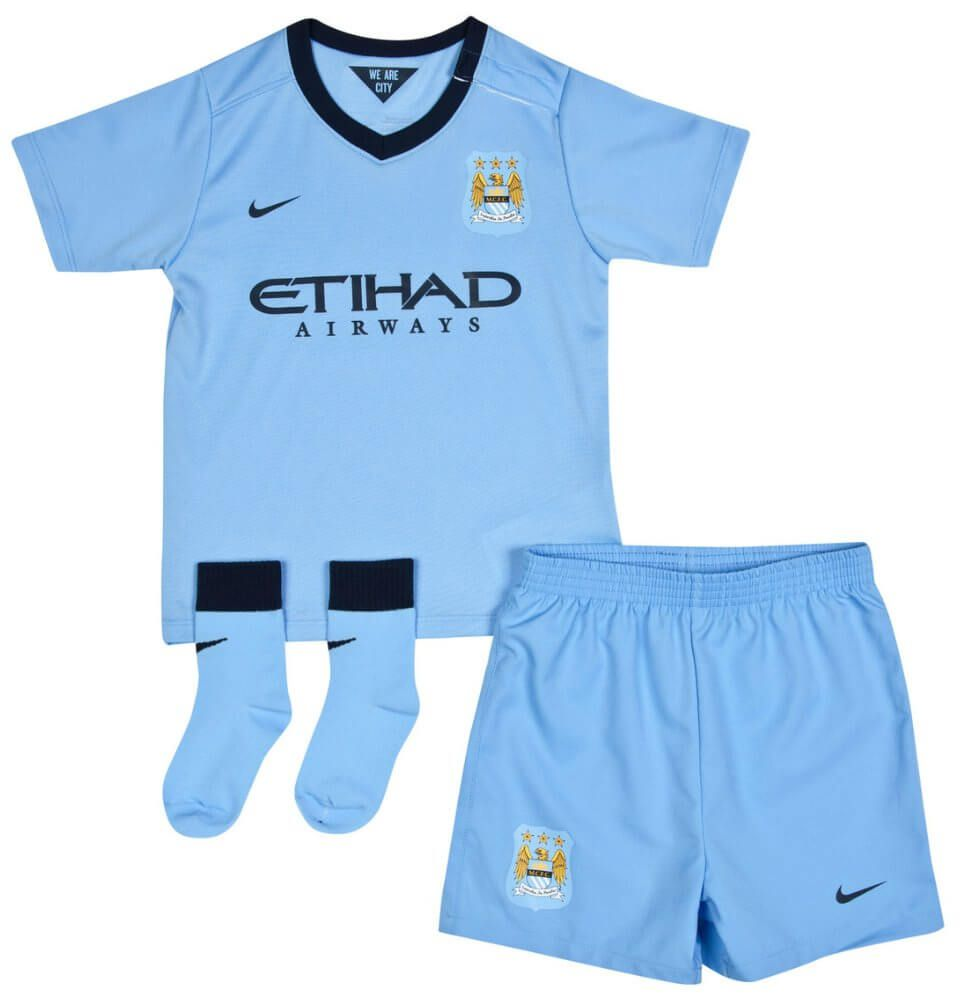 Manchester City Baby (Infant) Home Kit 2014 - 2015 ...