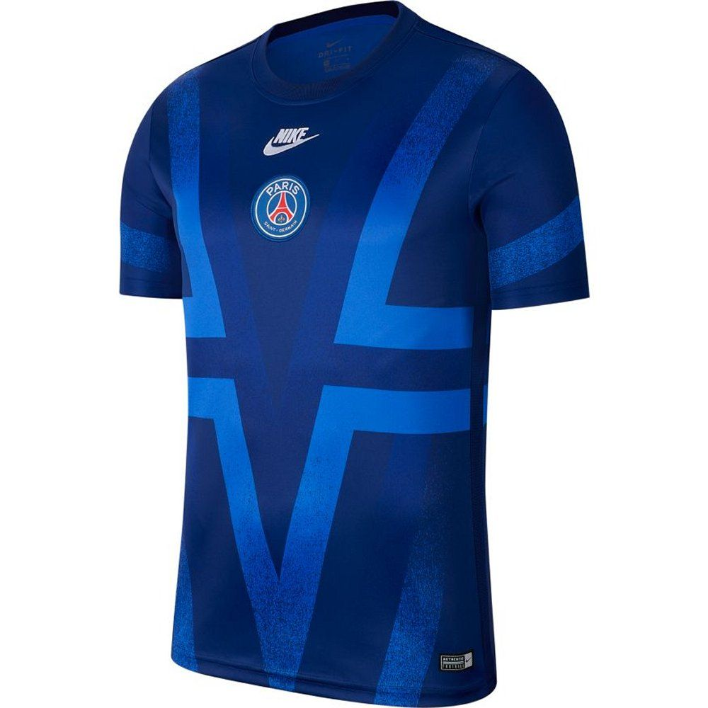 Paris Saint Germain Blue Pre Match Shirt 2019 20 Authentic Nike Gear