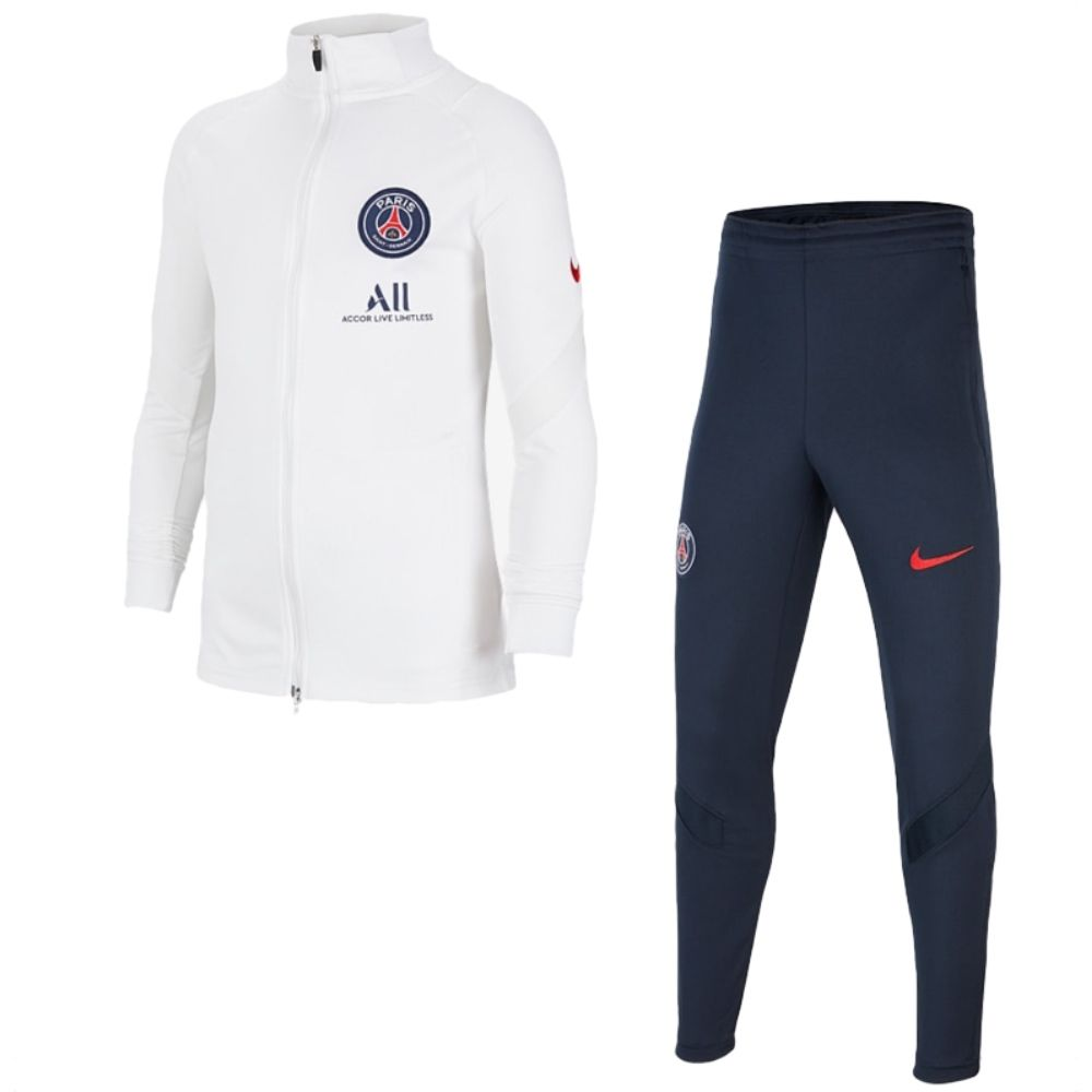 Official Nike Paris Saint Germain White Strike Tracksuit 2020 21 Limited Stock