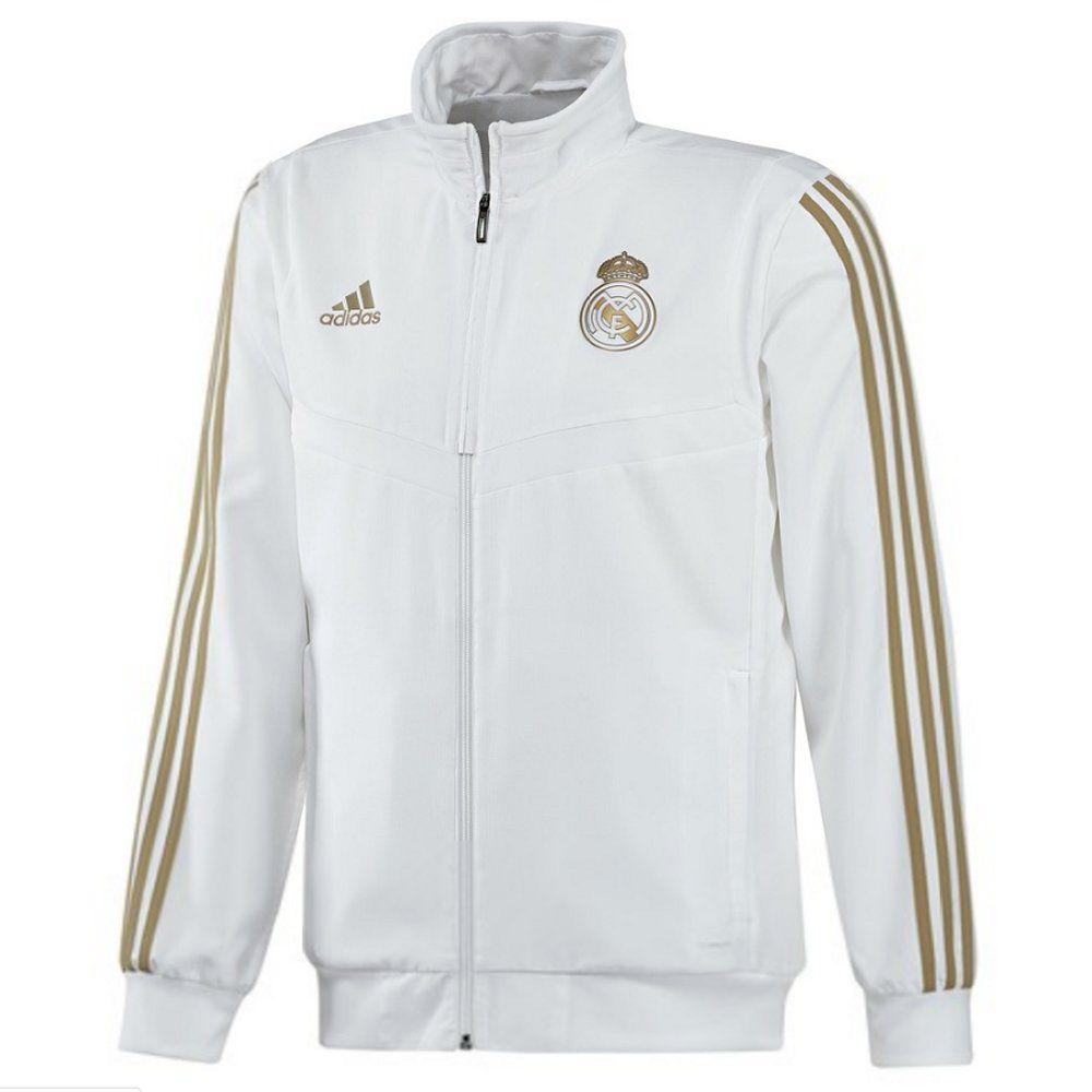 Adidas Jacket White And Gold