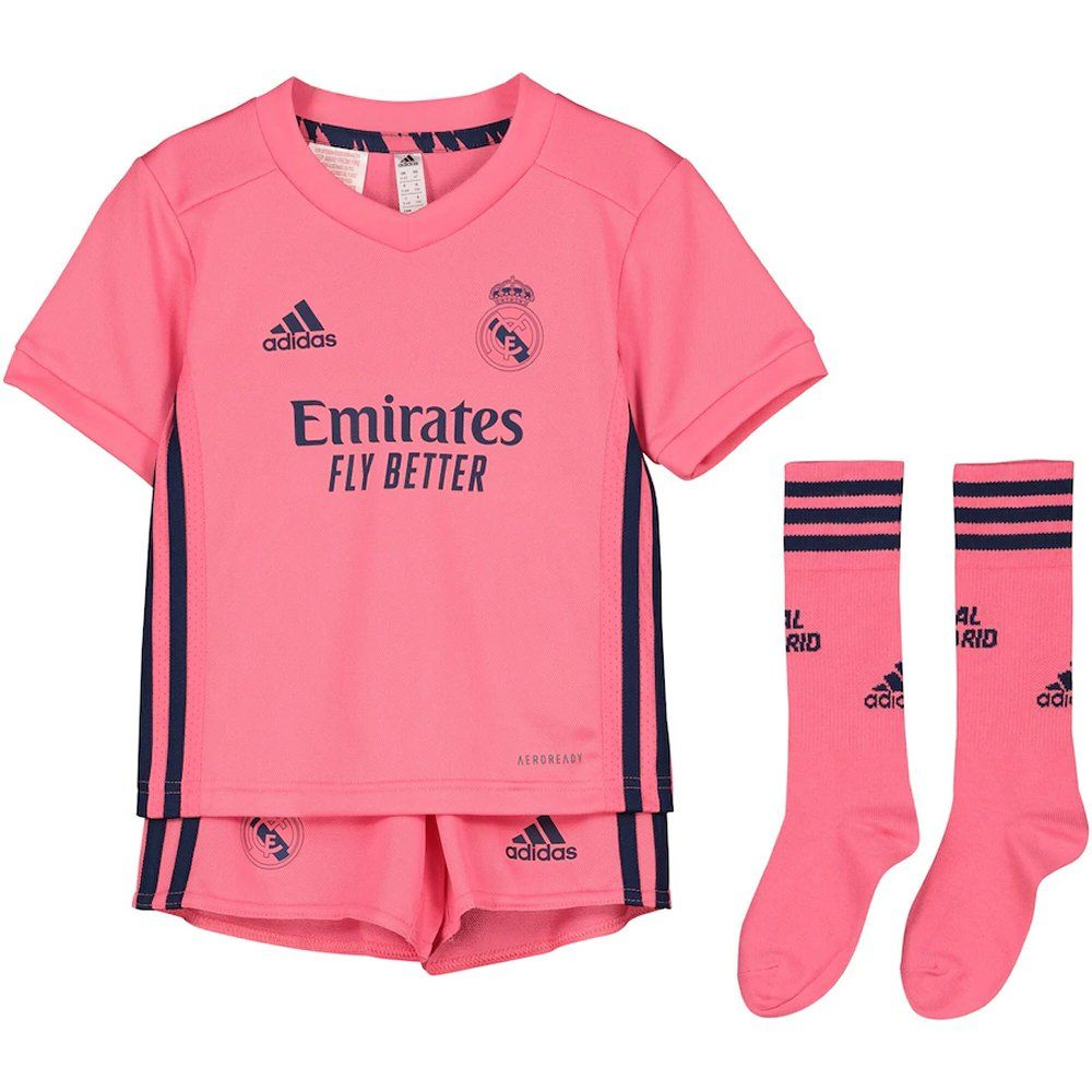 Real Madrid Kids Away Kit 2020 21 Official Adidas