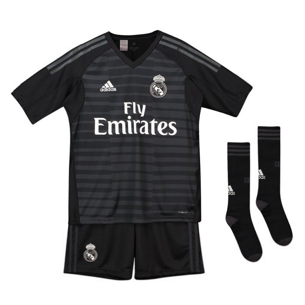 Real Madrid Adidas Goalkeeper Home Kit 201819 (Kids)