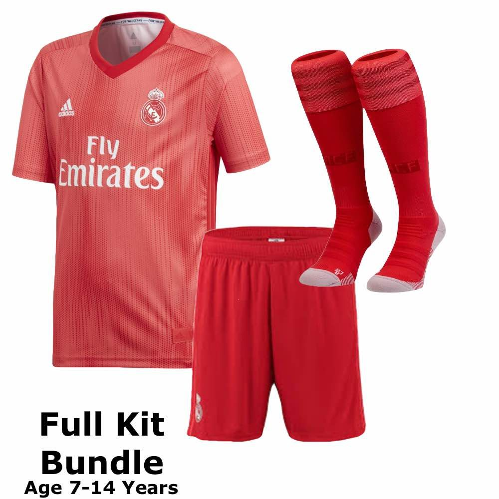 Real Madrid Kids Third Kit Bundle 2018 19 Official Adidas