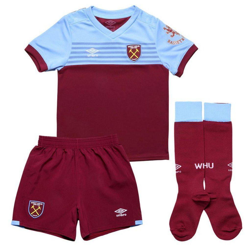West Ham United Kids Home Kit 2019 20 Authentic Umbro