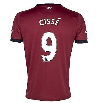 Newcastle United Cisse 9 Boys Away shirt 2012-13
