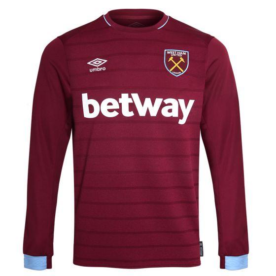 West Ham United Umbro Long Sleeve Home Shirt 2018/19 (Adults)