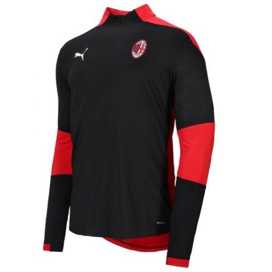 AC Milan 20/21 1/4 zip training top (black/red)