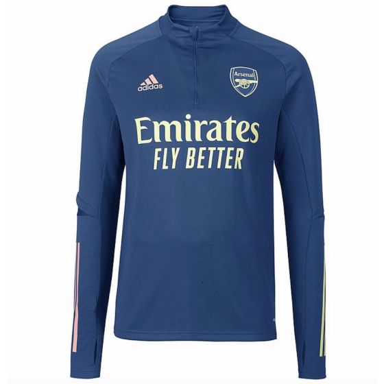 Arsenal blue quarter zip training top 20/21