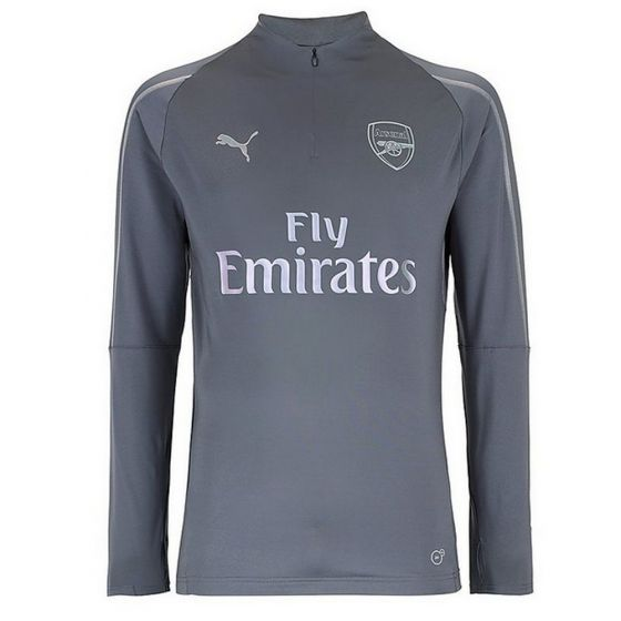 Arsenal Puma 1/4 Zip Grey Training Top 2018/19 (Kids)