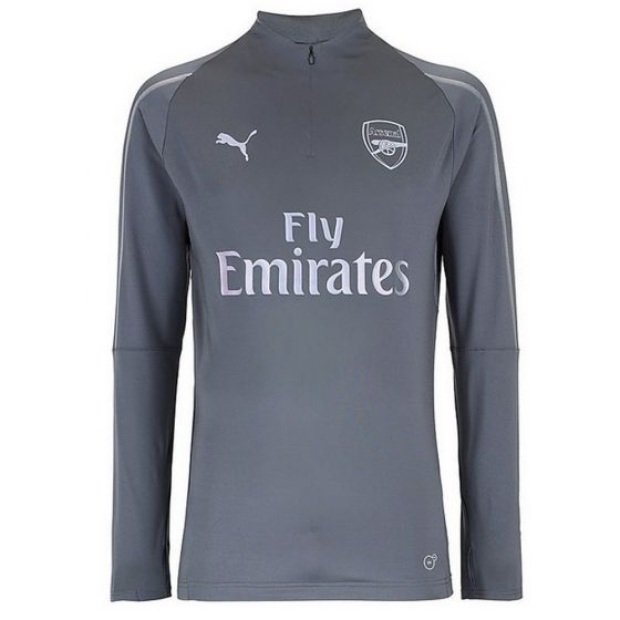 Arsenal Puma 1/4 Zip Grey Training Top 2018/19 (Adults)