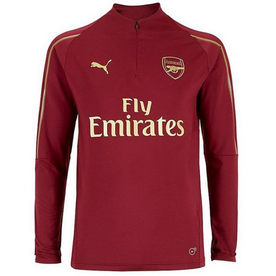 Arsenal Puma 1/4 Zip Red Training Top 2018/19 (Adults)