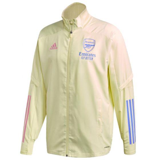 Arsenal 20/21 yellow Adidas presentation jacket
