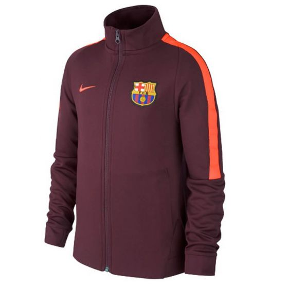 Barcelona Kids Authentic Jacket 2017/18 (Maroon)