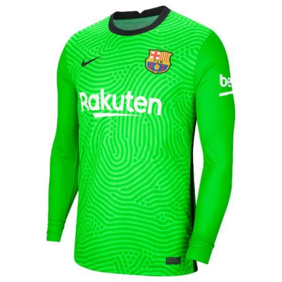 Barcelona junior green goalkeeper shirt 20/21