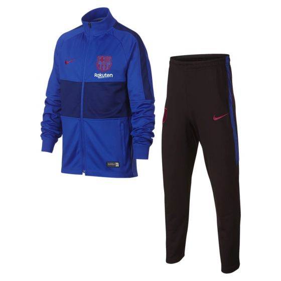 Barcelona Kids Strike Blue Tracksuit 2019/20