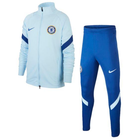 Chelsea Nike light blue strike tracksuit 20/21 (junior)